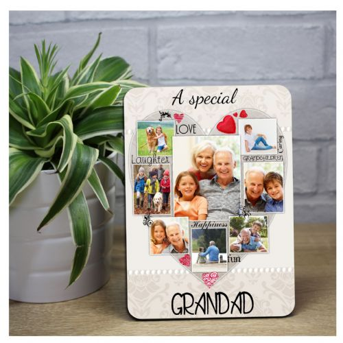 Personalised Special Grandad Word Picture Art Wood Photo Frame Panel F49 Fathers Day Birthday Gift